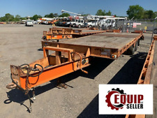 2008 Hudson Htd18d 10ton Tagalong Equipment Flatbed Trailer Ramps