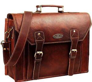 d05a6f39656d Details about USA Men Women Handmade Leather Messenger Laptop Shoulder  Briefcase Satchel Bag