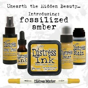 Tim Holtz Distress Fossilized Amber  Color Of The Month Set 2015 APRIL Ranger