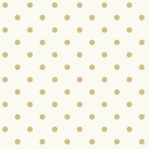 Wallpaper-Fun-Large-Gold-Dot-on-Eggshell-White-Background