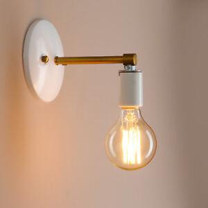 Retro-Moderne-Style-Fer-Mansarde-Cafe-Blanc-Noir-Applique-Lampe-Lanterne-Murale