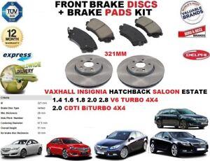fuer-Opel-Insignia-1-6-1-8-2-0-321mm-Vorderbremse-Scheibensatz-Bremsbelagsatz