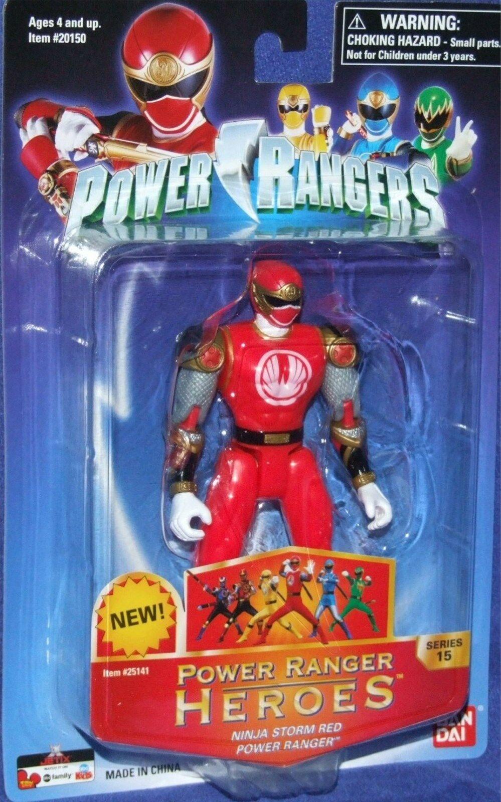 Power Rangers Ninja Storm Red Heroes 5  Ranger New series 15 Factory Sealed 2006