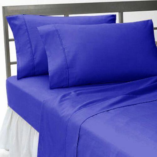 Thread Count Royal Blue Solid Sheet Set 100/% Cotton Deep Pocket 800 7 Sizes