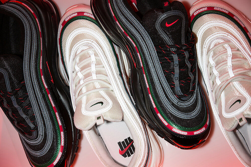 SHIP NOW Undefeated x Nike Air Max 97 OG Undftd 8-13 AJ1986 001-Black 100-White