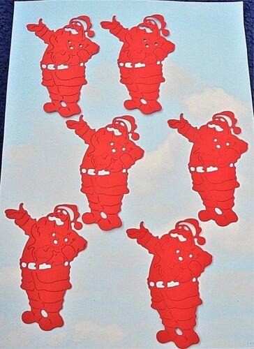 fabrication carte, Die Cut Christmas Grand Santa Claus X 6 rouge