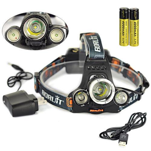 Pêche BORUiT 13000Lm XML T6 3 LED Lampe Lampe Lampe Frontale HeadLight Flashlight Lamp 18650 34e83a