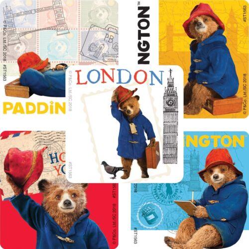 "Assorted Paddington Bear Stickers Licensed 25 2.5/"" x 2.5/"" each"
