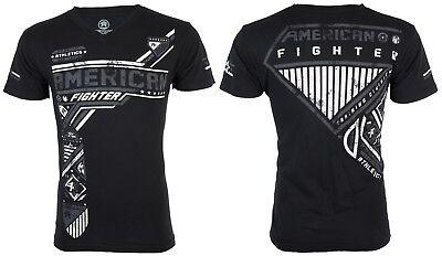 AMERICAN FIGHTER Mens V-neck T-Shirt EAGLEPORT Athletic BLACK Biker Gym UFC $40