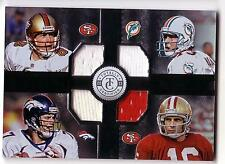 2013 Quad Jersey Steve Young John Elway Dan Marino Joe Montana Stitches In Time