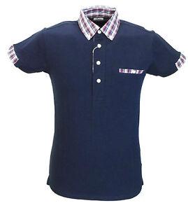 Azul-Marino-Clasico-Camisas-Polo-Cuello-de-verificacion-Mod-Cloth