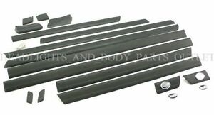 Fits-for-AUDI-100-C4-91-94-A6-94-97-Upper-Lower-Door-Moulding-Molding-Trim-Set