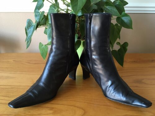 Length Calf Bennett L 6 k Boots Leather Ladies All Black £149 Rrp 5 Mid Para Uk axzEnqw8