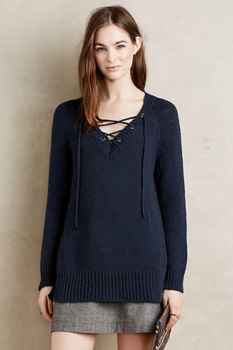 L Sweater Pullover Up M Moth Nwt Lace Anthropologie Asbury Sw8xqB