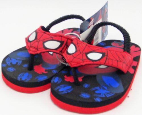 Flip Flops Thong Sandals Flats Marvel Spiderman Rubber Vinyl Straps Toddlers