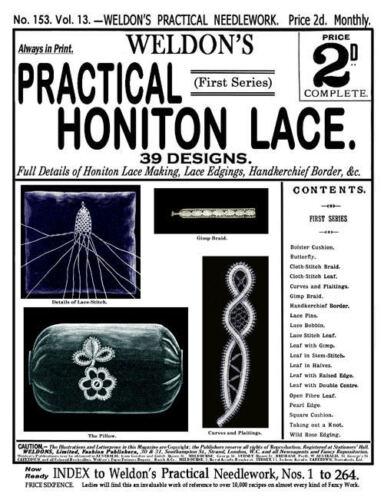 Weldon/'s 2D #153 c.1897 populaire vintage instructions dans Honiton oreiller dentelle