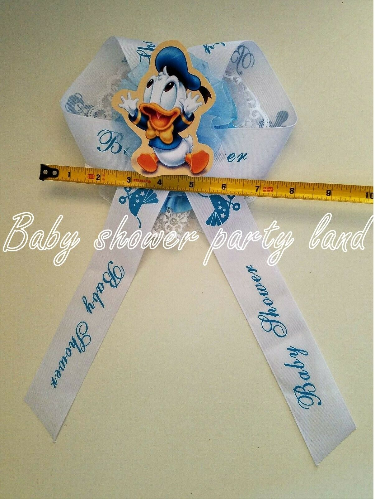 Baby Shower Mom To Be It/'s a Boy Sash Duck Duckling Blue Ribbon with Corsage