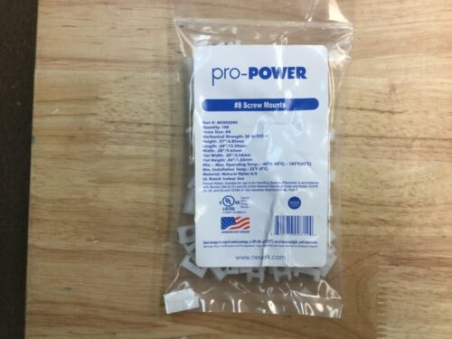 ProPower Cable Tie Screw Mount, Natural, MC002000, Bag of 100, uses #8 Screw