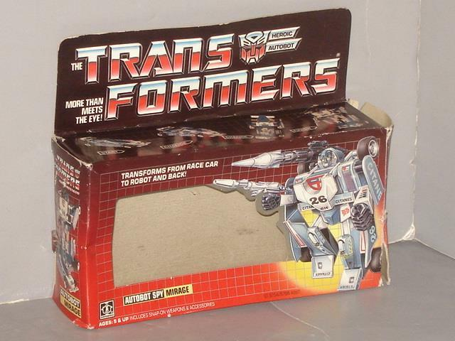 G1 TRANSFORMER  AUTOBOT MIRAGE EMPTY BOX LOT   2  vente en ligne
