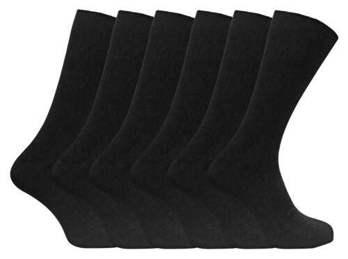 UK 6-11 EU 39-45 12 Pairs Men/'s Assorted 100/% Cotton Diabetic Designer Socks