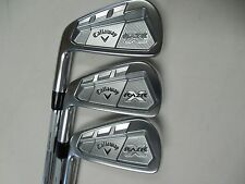 NEW LH CALLAWAY RAZR X FORGED IRON SET (3.4.7) PROJECT X 5.0 STEEL IRONS