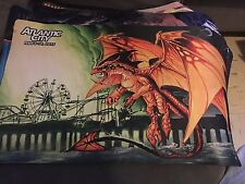 MTG - Dragon at the Pier - Grand Prix Atlantic City Playmat - Custom Dragon Art