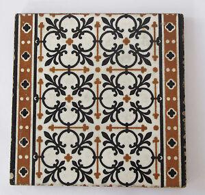 """Antique - Minton Hollins & Co.  8 x 8""""  tile  c.1870's - Lovely condition"""