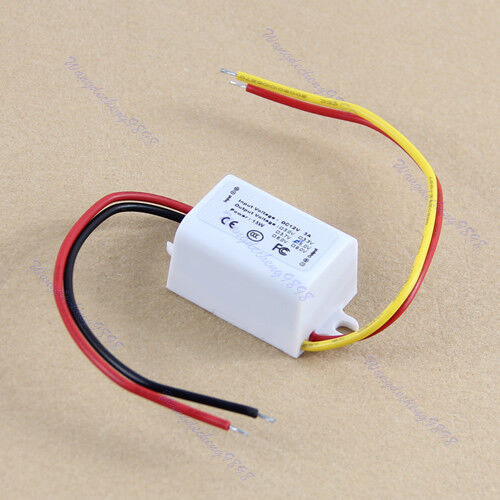 Waterproof DC Converter 12V Step Down to 5V 3A 15W Power Supply Module New