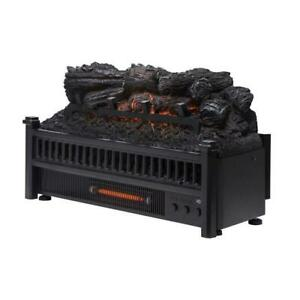 Pleasant-Hearth-Electric-Log-fireplace-Insert-Heater-and-remote