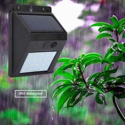 4x3LED Solar Wandleuchte Solarleuchte Edelstahl Gartenlampe Wandlampe Außenlampe