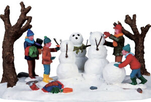 Lemax -Building a Family of Snowmen -Holiday Village Accent-retired