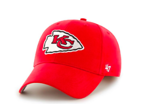 NFL Kansas City Chiefs Adult OSFM  47 Brand MVP Adjustable Hat  fe9e38278