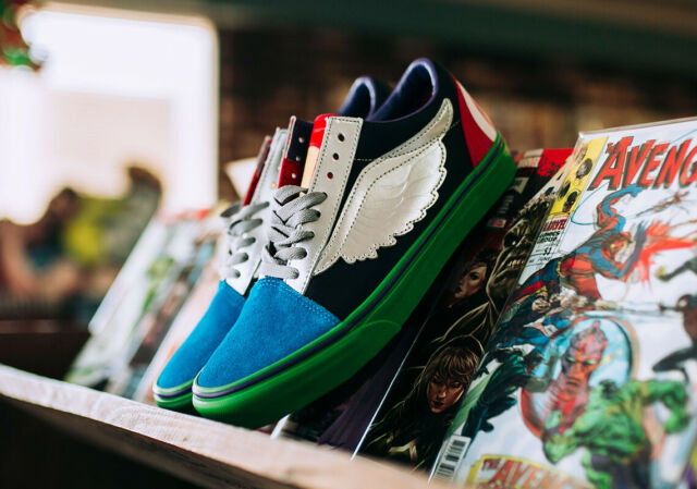 Authentic VANS X Marvel Avengers Old Skool Shoes Thor Captain America