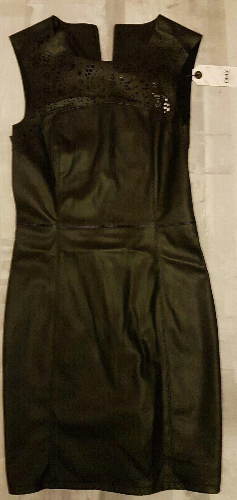 Only Kleid Gr. 36 Leder Optik neu