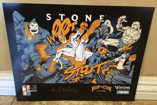 ALAN DAVIS autographed W00tstout 2019 Stone Brewing print limited to 300!