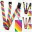 High-quality-ID-badge-holder-RAINBOW-STRIPES-amp-Secure-Lanyard-neck-strap-soft thumbnail 1