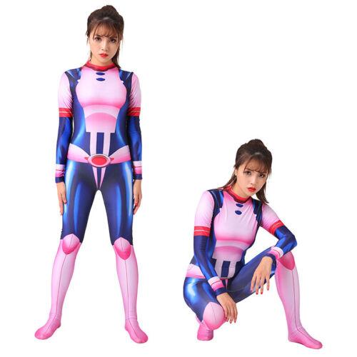 Adult Kids Cosplay My Hero Academia Ochaco Uraraka Jumpsuits Costumes Halloween