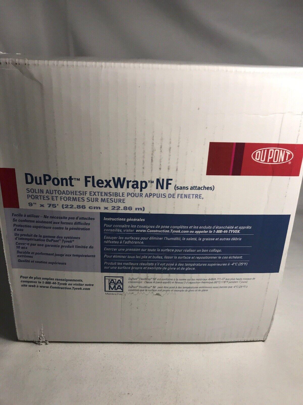 "DUPONT FLEXWRAP NF 9/"" X 75/' TYVEK WRAP WINDOW FLASHING !"
