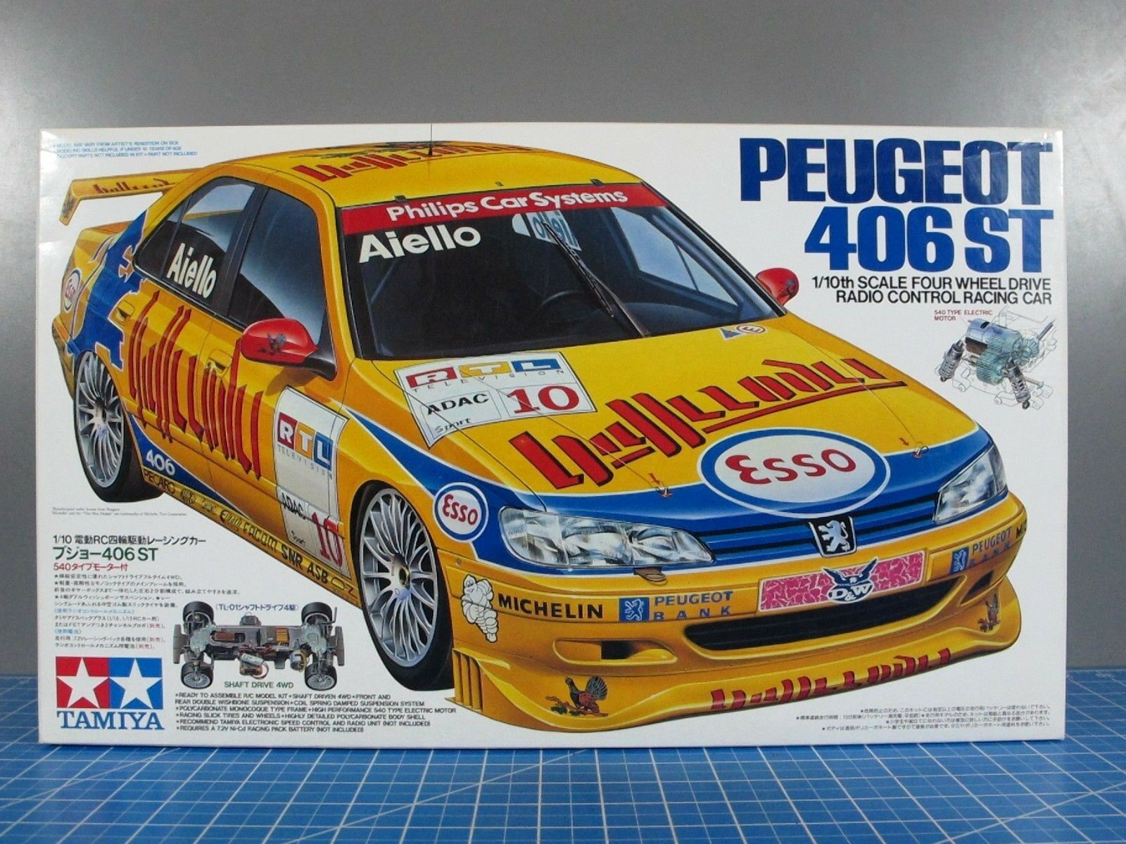 Vintage Rare New in Box Tamiya 1 10 R C Peugeot 406ST TL-01 Chassis   58212