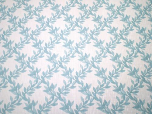 Classic Light Teal Vines on White Wallpaper by Norwall  SP12406