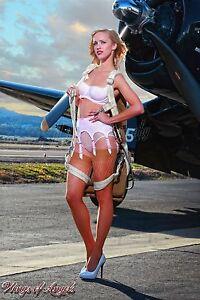 Wings of Angels Malak Pin Up Print Ashten A Leg Up Vintage WWII F4U-4 Corsair