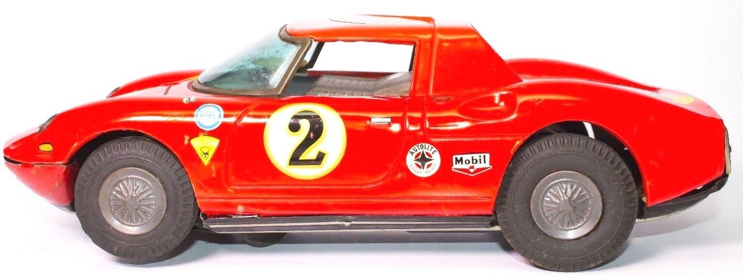 Ultra Seltene Blech Japanisch Asahi Le Mans  2 Ferrari Berlinetta mit / Mystery