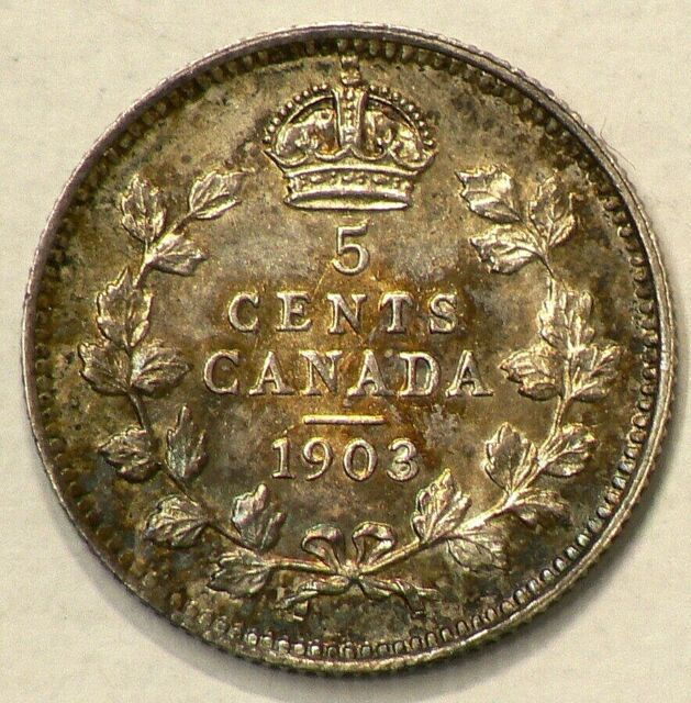 1903 Canada 5 Cents Silver #9921