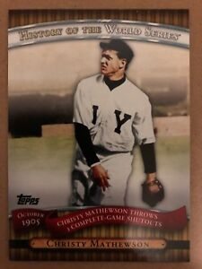 Details About 2010 Topps History Of The World Series Hws1 Christy Mathewson Baseball Card