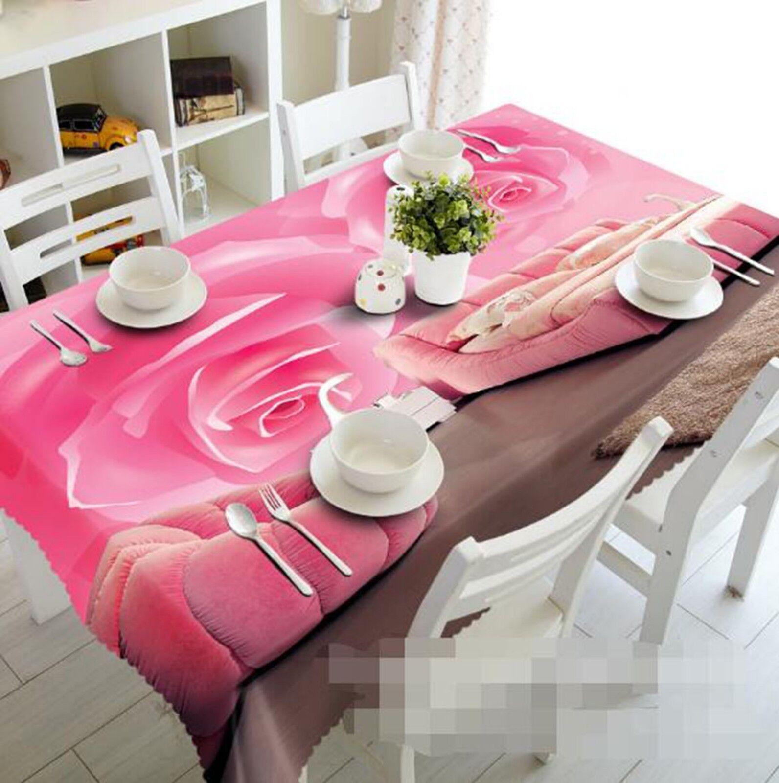 3D Rosa Flowers 045 Tablecloth Table Cover Cloth Cloth Cloth Birthday Party Event AJ Lemon 219c54