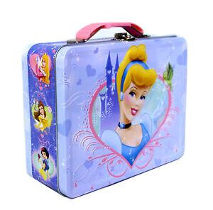 Disney-Princess-Tin-Lunch-Box-Cinderella-Snow-White-Aurora-Belle-Storage-GiftBag