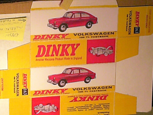 REPLIQUE  BOITE VW 1600 TL FASTBACK  DINKY TOYS 1968