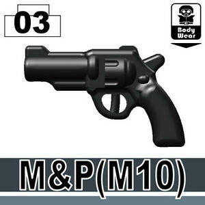 M&P 10 (W117) pistol toy compatible with toy brick minifigures