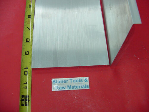 """10 Pieces 3//8/"""" X 5/"""" ALUMINUM 6061 FLAT BAR 10/"""" long T6511 Solid Plate Mill Stock"""