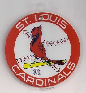 st louis cardinals 5 quot window cling decal clear plastic vintage logo sticker ebay